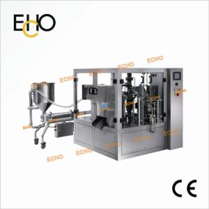 Rotary Stand-up Pouch Liquid Detergent Soap Filling Packikng Machine Mr8-200y pictures & photos