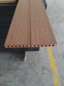 New Design Wood Grain Type WPC Comosite Decking pictures & photos