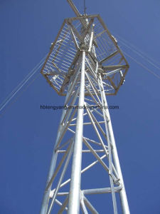 Galvanized Round Steel Guyed Tower for Communication pictures & photos