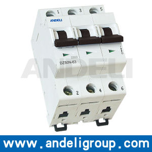 16A/32A MCB 3 Phase Miniature Circuit Breaker MCB (DZ50N-63) pictures & photos