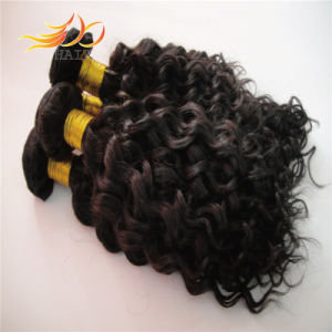 6A Natural Color Jerry Curly Peruvian Virgin Human Hair pictures & photos