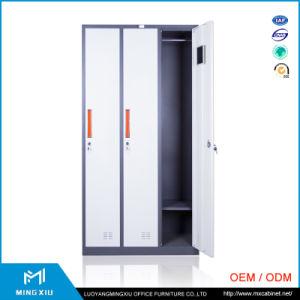 Luoyang Mingxiu Narrow Edge Vintage Metal Cabinets / 3 Door Steel Cabinet Clothes Locker pictures & photos