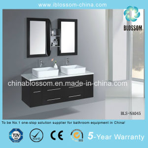 Home Furniture Wall Mounted Bathroom Vanity MDF Bathroom Cabinet (BLS-NA045) pictures & photos