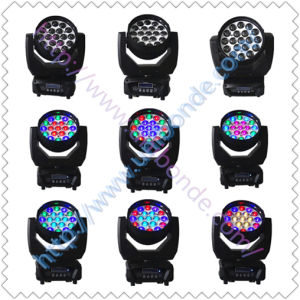 Hot Sale in 2015 19PCS 12W Color RGBW LED Zoom Moving Head pictures & photos