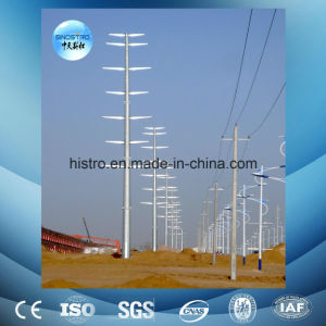 Galvanized Power Transmission Tubular Steel Tower pictures & photos