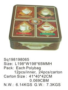 Rectangular Gift Tin Box with Printing Custom Logo pictures & photos