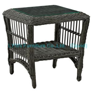 Black Round Rattan Side Table Outdoor Furniture pictures & photos