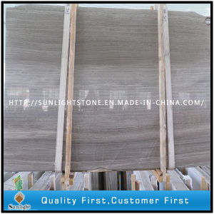 Cheap Chinese Grey Wooden Marble Slabs for Floor/Wall Tiles pictures & photos