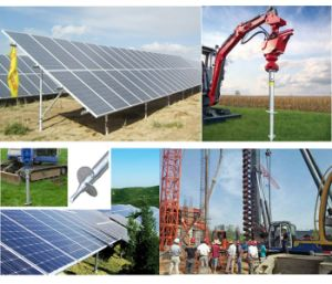 Photovoltaic Foundations Ground Pole Anchor Slivery White Utmost Stability Helical Piles pictures & photos