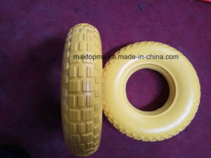 480/400-8 Flat Free PU Foam Trolley Wheel pictures & photos