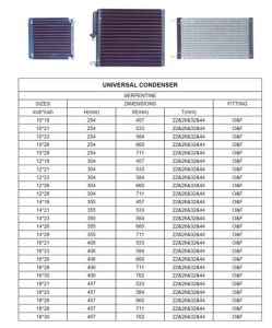 Factory Direct Sale of Serpentine Type Universal Auto A/C Condenser pictures & photos