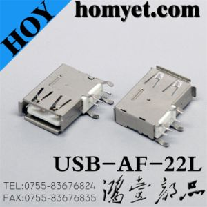 USB a Type Female Connector with Side DIP for Electric Accessories (USB-AF-22L) pictures & photos