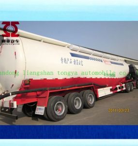 Factoty Price V Shape Tri-Axle Bulk Cement Tanker Trailer pictures & photos
