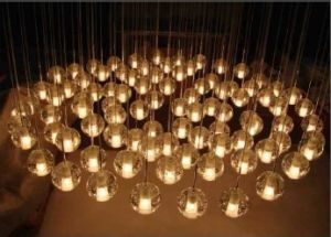 Solid Bubble Glass Balls Ceiling Light for Hotel Project pictures & photos