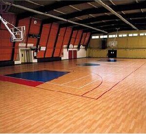 Roll Indoor PVC Sports Floor /Basketball Floor/Mat Fiba Certificate Wooden Surface pictures & photos