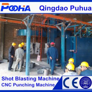 Hanging Continuous Type Gas Cylinders Shot Blasting Machine pictures & photos
