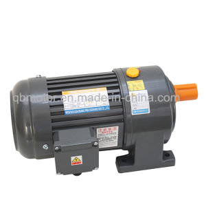 0.1kw Shaft Dia 22mm Horizontal Geared Motor Small AC Gear Motor pictures & photos