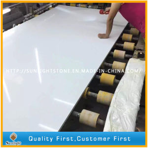 Cheap Pure White Artificial Quartz Stone/Quartz with Sparkles pictures & photos