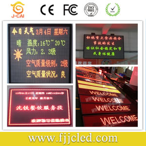 P7.62 SMD Mono Tri Color Indoor Advertising LED Sign pictures & photos