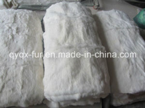 Natural White Color 100% Real Rabbit Fur Plate for Garments pictures & photos