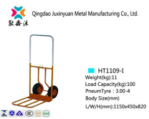 Foldable Hand Truck/Handcart/Trolley with PU Caster (HT1109) pictures & photos