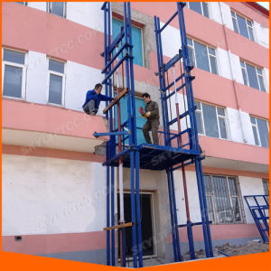 Guide Rail Goods Cargo Scissor Lift for Warehouse with Good Quality pictures & photos