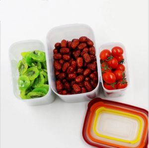 3 in 1 Food Container Environmently Food Grade Plastic Fresh-Keeping Box Fridge Multi Capacity Save Space for Kitchen BPA Free pictures & photos