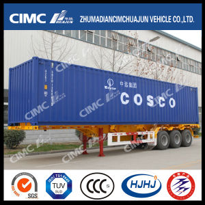 45FT Skeleton Container Trailer with Cosco Container pictures & photos
