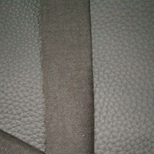 SGS Gold Certificationlarge Litchi Lines Knitted Bottom Cloth, Artificial Leather, PVC Leather pictures & photos