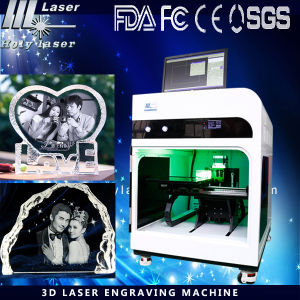 New Model 3D Laser Engraving Machine for Glass Crystal Open a Shop pictures & photos
