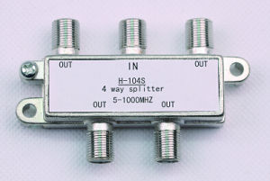 4way CATV Splitter 5-1000MHz (SHJ-H104S) pictures & photos