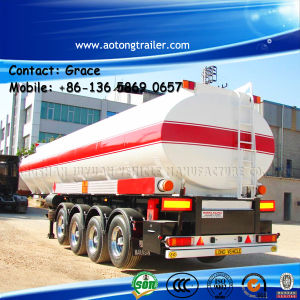 Aotong Tanker Tri Axle Oil Fuel Tank Semi Trailer 45000 Liters Fuel Tanker Trailer for Sale pictures & photos