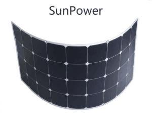 2017 High Efficiency Sunpower Solar Cell 120W Semi Flexible Solar Panel pictures & photos