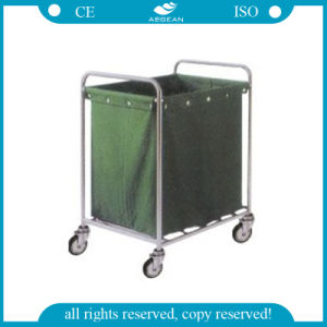 AG-Ss013 Stainless Steel Hospital Use Linen Trolley pictures & photos