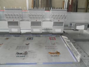 6 Heads Flat Embroidery Machine (400*680mm Embroidery Area)