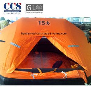 Gl/CCS Approved 15 Man Rubber Inflatable Marine Liferaft pictures & photos
