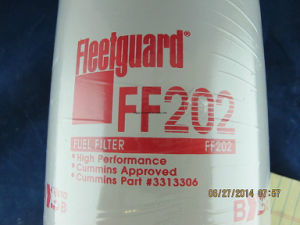 Fleetguard Fuel Filter FF202 for Cummins Engine pictures & photos