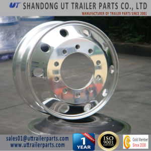 19.5′′ Same Quality as Alcoa Brand Polished Aluminum Alloy Wheel Rim for Truck and Trailer pictures & photos