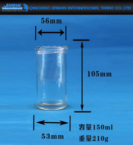 Clear Glass Container Cylinder Candle Holder with Decorations pictures & photos
