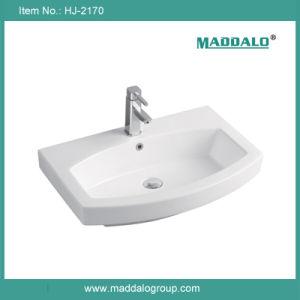 Foshan Ceramic Sanitary Ware Featheredge Single Cabinet Basin (HJ-2170)