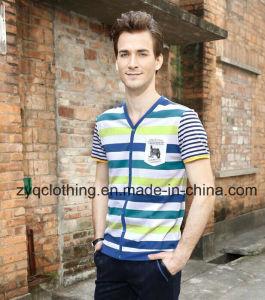 Mercerized Cotton T-Shirt for Men pictures & photos