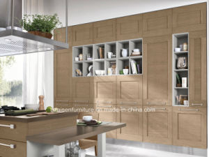 Popular for Canada Market Wood Veneer Kitchen Cabinet Furniture Design pictures & photos