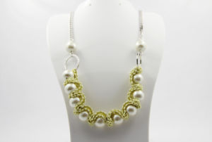 with Bow 11 PCS Imitate Pearl Ring Necklace (NJCP_0006)