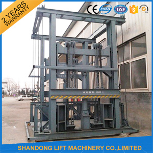 Hot Sale Hydraulic Lead Rail Goods Lift with High Quality pictures & photos