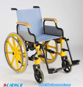 Folding Entirely Plastic Washable Wheelchair Use as Shower Chair pictures & photos