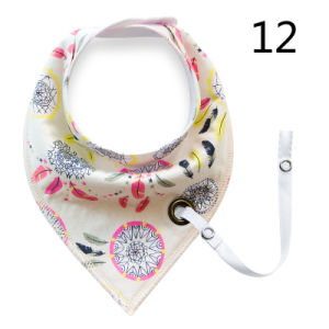 Hot Selling New Double Printing Cotton Bib with Pacifier Cliper pictures & photos