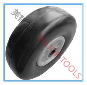 10 Inch Flat Free PU Foam Rubber Trolley Wheel Tire 3.00-4 pictures & photos