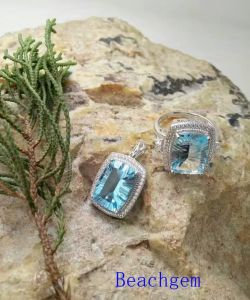 Jewelry Set-Natural Topaz in Sterling Silver (S3331) pictures & photos