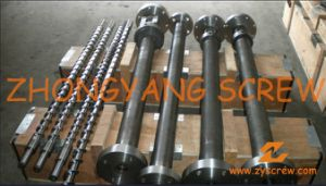 Single Extruder Screw Barrel for Plastic Recyling Screw Extruder Machine pictures & photos