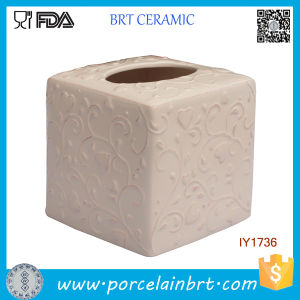 Ceramic Fashion Tissue Box Pink Blossomy Pattern Home Decor pictures & photos